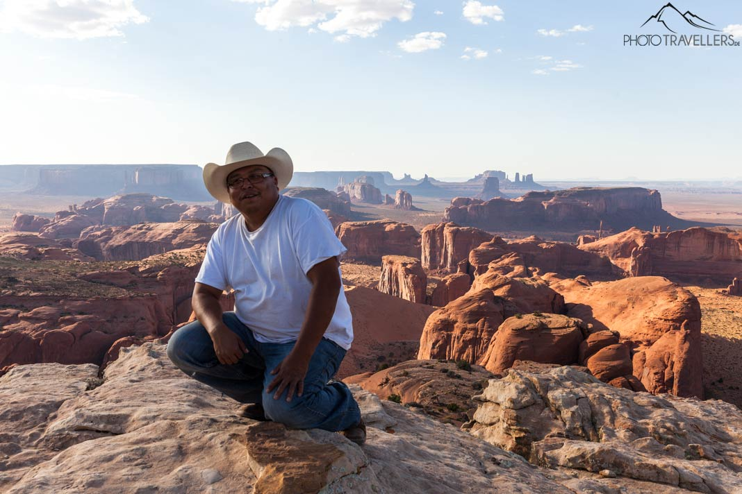 Unser Navajo-Tourguide Duffy Holiday im Monument Valley
