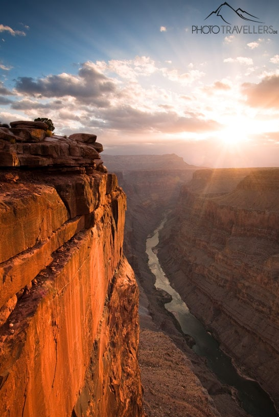 Den Sonnenaufgang am Grand Canyon fotografiert