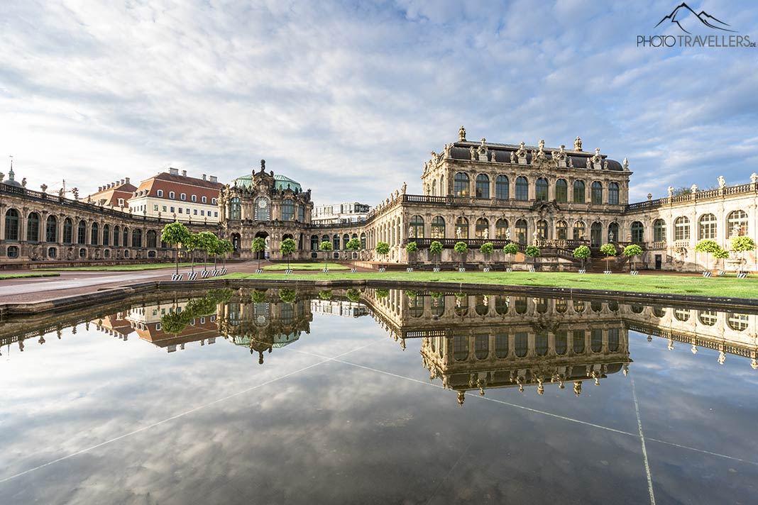 Der Zwinger in Dresden am Morgen