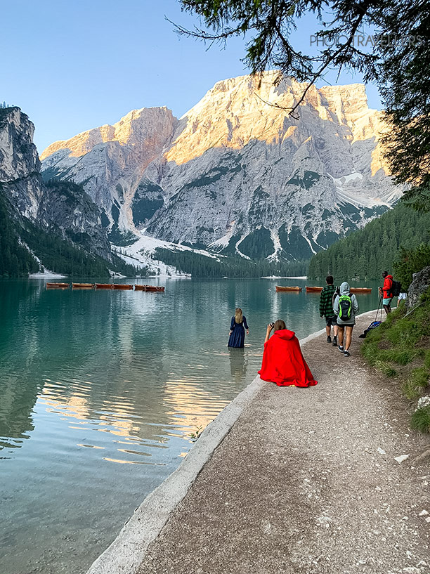 Instragram-Shooting am Pragser Wildsee