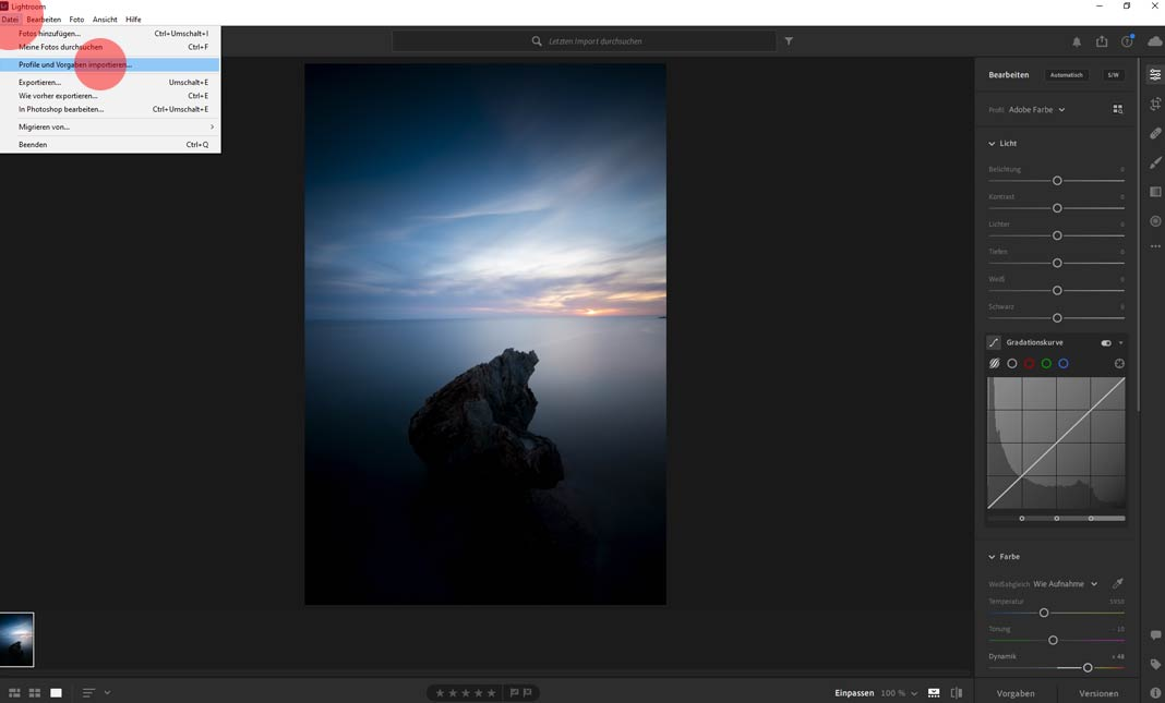 So importierst du Presets in Lightroom